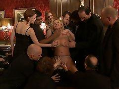 Sasha Knox is strapped down...