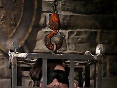 Bobbi Starr blindfolded...