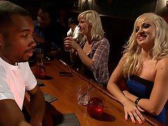 Blonde slut finds herself in...