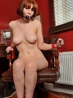Candi Blows fastened up in slavery