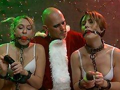 Santa's sexy helpers...