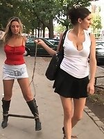 Czech beauty gets fondled by a group...