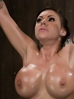 Big titted Latina, bound, tickled,...