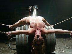 Bound over barrels Christina...